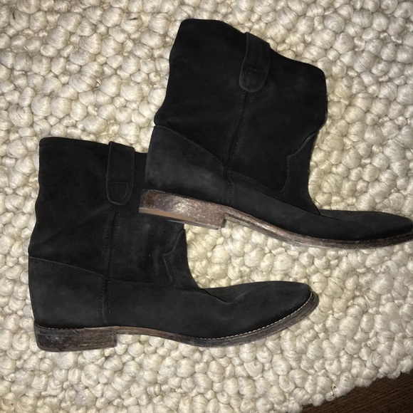 Isabel Marant Crisi Flat Ankle boots, black suede